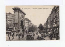 Paris. Xème. Le Boulevard Et La Porte Saint Denis. Avec Omnibus, Vieux Tacots, Fiacres. (3160) - Transport Urbain En Surface