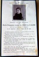 MEMORANDUM  SOUVENIR  MARIE FRANCOISE JEANNE DE JUDCY DE SAINT ALIRE    FAIRE PART DECES - Obituary Notices