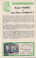 MUSIC-HALL ANCIENNE BELGIQUE (BRUXELLES) - ROGER PIERRE Et JEAN-MARC THIBAULT. - Programs