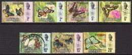 Malaysia Trengganu 1971 Butterflies Set Of 7, Litho Bradbury, Used, SG 110/6 - Malaysia (1964-...)