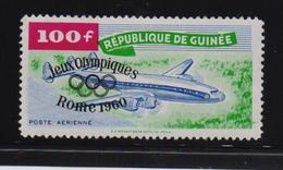Guinea 1960, Airplane , Overprint Sports, Minr 51, MNH. Cv 12 Euro - Guinea (1958-...)