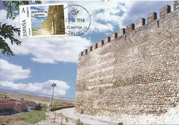 Spain Maxicard – España Tarjeta Máxima Con Sello Personalizado (Tu Sello) De Las Murallas De Galisteo (Cáceres) - Tarjetas Máxima