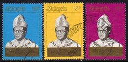 Malaysia Trengganu 1981 Installation Of Sultan Mahmud Set Of 3, Used, SG 125/7 - Malaysia (1964-...)