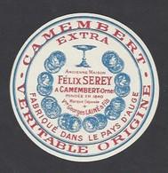 Etiquette De Fromage Camembert  - Ancienne Maison F. Serey  à Camembert (61 )  Vve G. Lainé Et Fils - Fromage