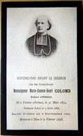 27 EVREUX MEMORANDUM  SOUVENIR MONSEIGNEUR MARIE SIMEON HENRI COLOMB EVEQUE D'EVREUX  FAIRE PART DECES - Obituary Notices
