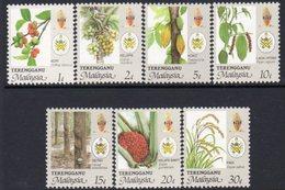 Malaysia Trengganu 1986-96 Agricultural Produce Set Of 7, MNH, SG 135/41 - Malaysia (1964-...)