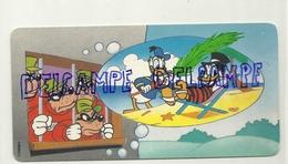 Carte Disney. Nestlé Disney Family. Rapetous En Prison. Picsou Et Donald à La Plage - Disneyland