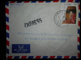 Zaire Lettre Express De Kinshasa 1983 Pour Remiremont - Zaïre