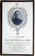 MILITAIRE MEMORANDUM  SOUVENIR YVES GOUVELLO DE LA PORTE SOUS LIEUTENANT FAIRE PART DECES - Obituary Notices