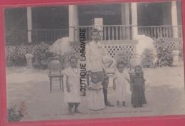 CAMBODGE----PHNOM-PENH----Le Gouverneur Et Ses Enfants--animé - Cambodia