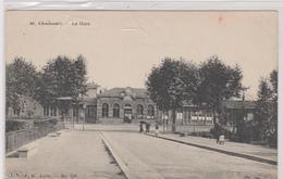Cpa ST. CHAMOND La Gare   Animée-arbres - Saint Chamond