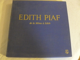 844 551 à 844 554  EDITH PIAF De La Môme à Edith.  Coffret De 4 Albums 33 T - Collectors
