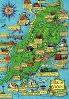 Carte Géographique, Isle Of Man, Circuit TT, Chat, Train, 32-2015, Lily Publications - BE - Maps