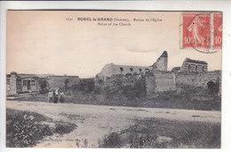 Sp- 80 - SOREL LE GRAND - Ruines De L'eglise - Couple - Bebe - Timbre - Cachet - 1921 - France