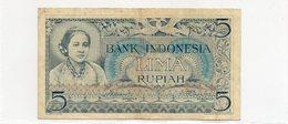 INDONESIE / Superbe Biilet De 1952 VF N° 42 R.R Dans Cet état Paper Money - Indonesia