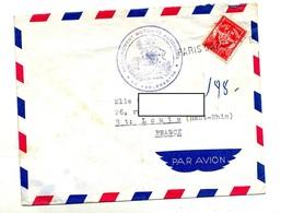 Lettre Cachet Annulation Paris Sur Franchise Militaire + Detachement Motorisé - Marcophilie (Lettres)