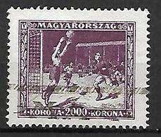 HONGRIE   -   1925 .   Y&T N° 377 Oblitéré.  FOOTBALL - Hongrie