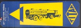 "RARE MARQUE PAGE ILLUSTRE -SALON DE L'AUTOMOBILE - 1934 - ETs SULITZER FRERES ""AUTOMOBILINE - REMORQUES TITAN"" - Bookmarks"