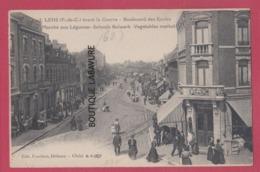 62 - LENS--Avant La Guerre----Boulevard Des Ecoles-Marché Aux Légumes---animé - Lens