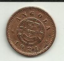 2 Centavos 1921 Angola Rara - Angola