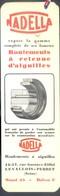 """RARE MARQUE PAGE ANCIEN ILLUSTRE - SALON DE L'AUTOMOBILE - 1934 - ROULEMENTS à BILLES """"NADELLA"""" - Bookmarks"""