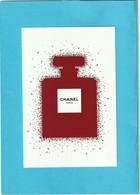 CHANEL  Superbe Grande Carte (15 / 10cm) *  Papier Glacé (papier Photo) * Edition Limitée *NOËL 2018 * - Cartes Parfumées