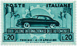 Ref. 305951 * HINGED *  - ITALY . 1951. 33rd INTERNATIONAL AUTOMOBILE EXHIBITION. 33 SALON INTERNACIONAL DEL AUTOMOVIL - 1946-60: Nuevos