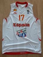 Basketball Jersey Match Worn SPAIN ESPANA National Team FIBA Europe Number 17 - Habillement, Souvenirs & Autres