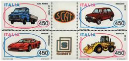 Ref. 6742 * NEW *  - ITALY . 1986. ITALIAN AUTOMOBILES. AUTOMOVILES ITALIANOS - 6. 1946-.. República