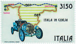 Ref. 48656 * NEW *  - ITALY . 1989. 82nd ANNIVERSARY OF THE PARIS PEKING RALLY. 82 ANIVERSARIO DEL RALLY PARIS-PEKING - 6. 1946-.. República