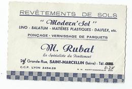 Carte De Visite - St Saint Marcellin Rubat Revetement De Sols Modern'sol - 38 Isère - Cartes De Visite