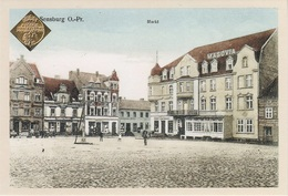 Repro AK Sensburg Mragowo Markt Hotel Masovia A Wymisly Katzenbuckel Wymysly Sawadden Balz Zawada Ostpreußen Neudruck - Ostpreussen