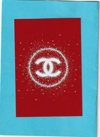 CHANEL  Superbe Grande Carte (15 / 10cm) *  Papier Glacé (papier Photo) * Edition Limitée *NOËL 2018 * - Perfume Cards