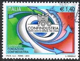 2010 - ITALIA / ITALY - CENTENARIO DELLA FONDAZIONE DI CONFINDUSTRIA / CENTENARY OF THE CONFINDUSTRIA FOUNDATION. USATO - Vini E Alcolici