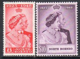 Malaya North Borneo 1948 Royal Silver Wedding RSW Set Of 2, MNH, SG 350/1 - North Borneo (...-1963)