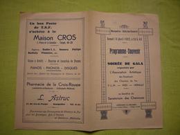 Programme Souvenir 1937 Gala Association Des Chemins De Fer à Montpellier - Programs