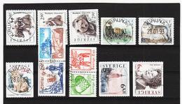 ECK1000 SCHWEDEN 1993 Michl 1756/60 + 1799/02 Gestempelt SIEHE ABBILDUNG - Schweden