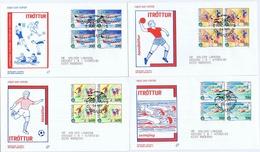 Faroe Islands 1989; Sport;  The Island Games.  Set Of 4 In Block Of 4 On FDC (Populær Filateli). - Faroe Islands