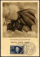 """Lot N°7315 France N°493 Obl Cachet Illustré """"MEETING NATIONAL 23/AOUT/1953"""" Sur Carte Maximum - TB - Postmark Collection (Covers)"""