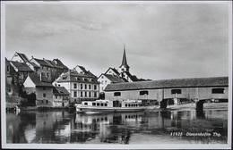 DIESSENHOFEN Alte Brücke Schiff Arenenberg Gel. 1947 V. Wädenswil N. Engelberg - TG Thurgovie