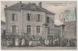 CPA 95 CORMEILLES EN VEXIN La Mairie Et Les Ecoles - France
