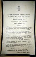 MEMORANDUM  SOUVENIR  LOUIS CHOPIN  FAIRE PART DECES - Décès
