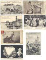 7 Cpa Marseille - Marius En Campagne, Lion, Humour, Vieux-Port, Scaphandrier, Poisson, Canebière .. ( S.3455 ) - Marseille