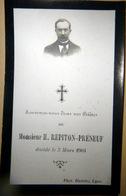 MEMORANDUM  SOUVENIR  H REPITON  PRENEUF  FAIRE PART DECES - Décès