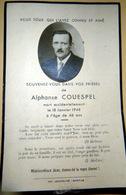 MEMORANDUM  SOUVENIR ALPHONSE COUESPEL  FAIRE PART DECES - Obituary Notices