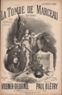 La Tombe De Marceau, Chant Patriotique! Partition Ancienne, Petit Format, Couverture Illustrée De Donjean. - Partitions Musicales Anciennes