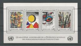 United Nations G. 1986 40th Anniv. Of FMANU S/S  Y.T. BF 4 ** - Genf - Büro Der Vereinten Nationen