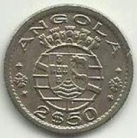 2.5 Escudo 1953 Angola Rare - Angola