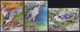 Malaysia 2015 S#1554-1556 Herons & Bitterns MNH Fauna Bird - Malasia (1964-...)