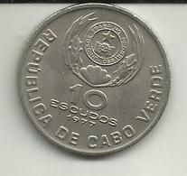 10 Escudos 1977 Cabo Verde - Cape Verde